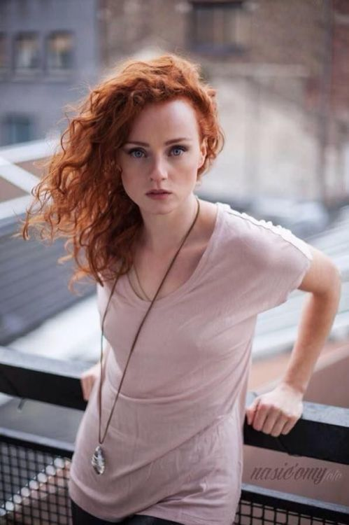 anal freckles Redhead with