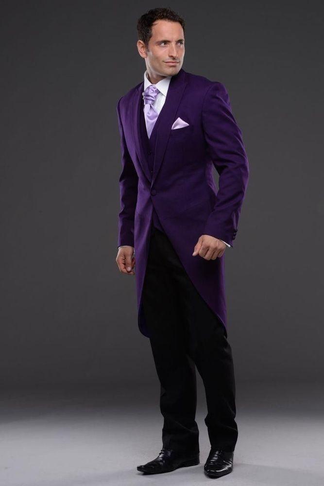2017 Latest Coat Pant Designs Purple Wedding Suits for Men Style ...