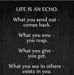 Explore True Quotes, Funny Karma Quotes, And More! Life Is An Echo ...