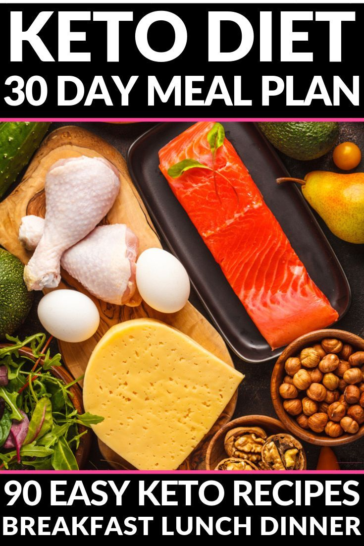 90 Keto Diet Recipes For Breakfast, Lunch & Dinner! Ketogenic 30 Day Meal Plan #weeklymealprep