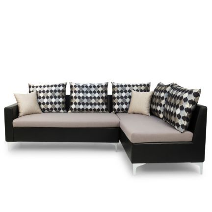 Furniture Kraft Orlando Left Side L Shape Sofa Black And Grey   Add Oodles  Of Style. Living Room ...