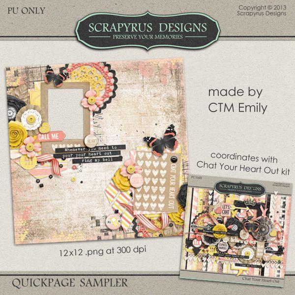 Scrapbooking TammyTags -- TT - Designer - Scrapyrus Designs, TT - Item - Quick Page