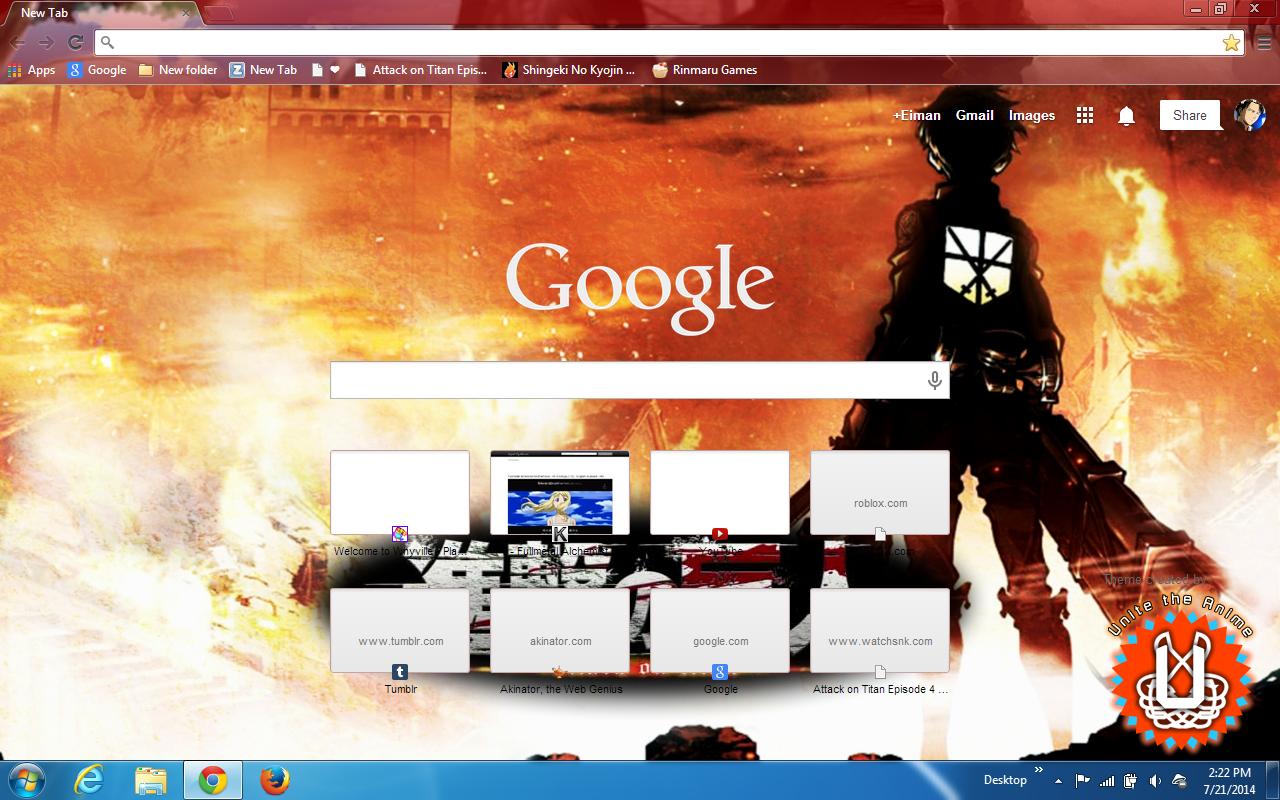 Google chrome theme itachi - My New Google Chrome Theme