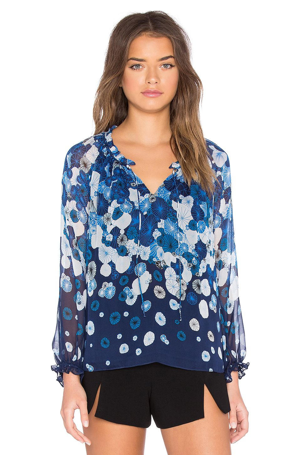 JM Collection Plus Size Printed Layered-Hem Top, Created for Macys & Reviews - Tops - Plus