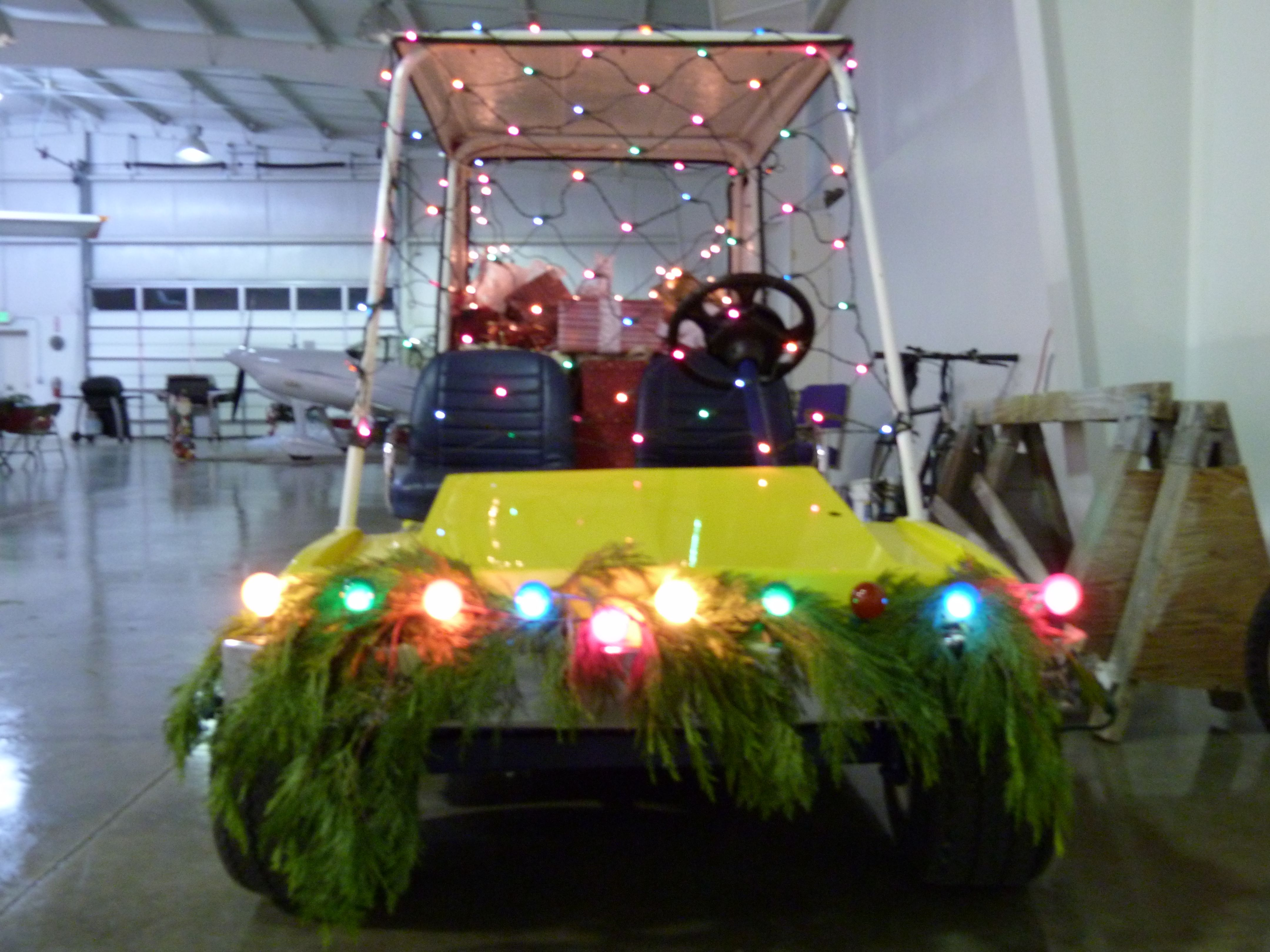 Decorating what you have ) a golf cart turned into the