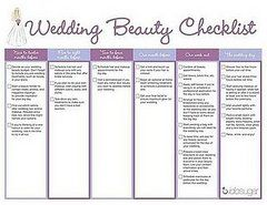 Free Download Wedding Beauty Checklist  Weddings Wedding And