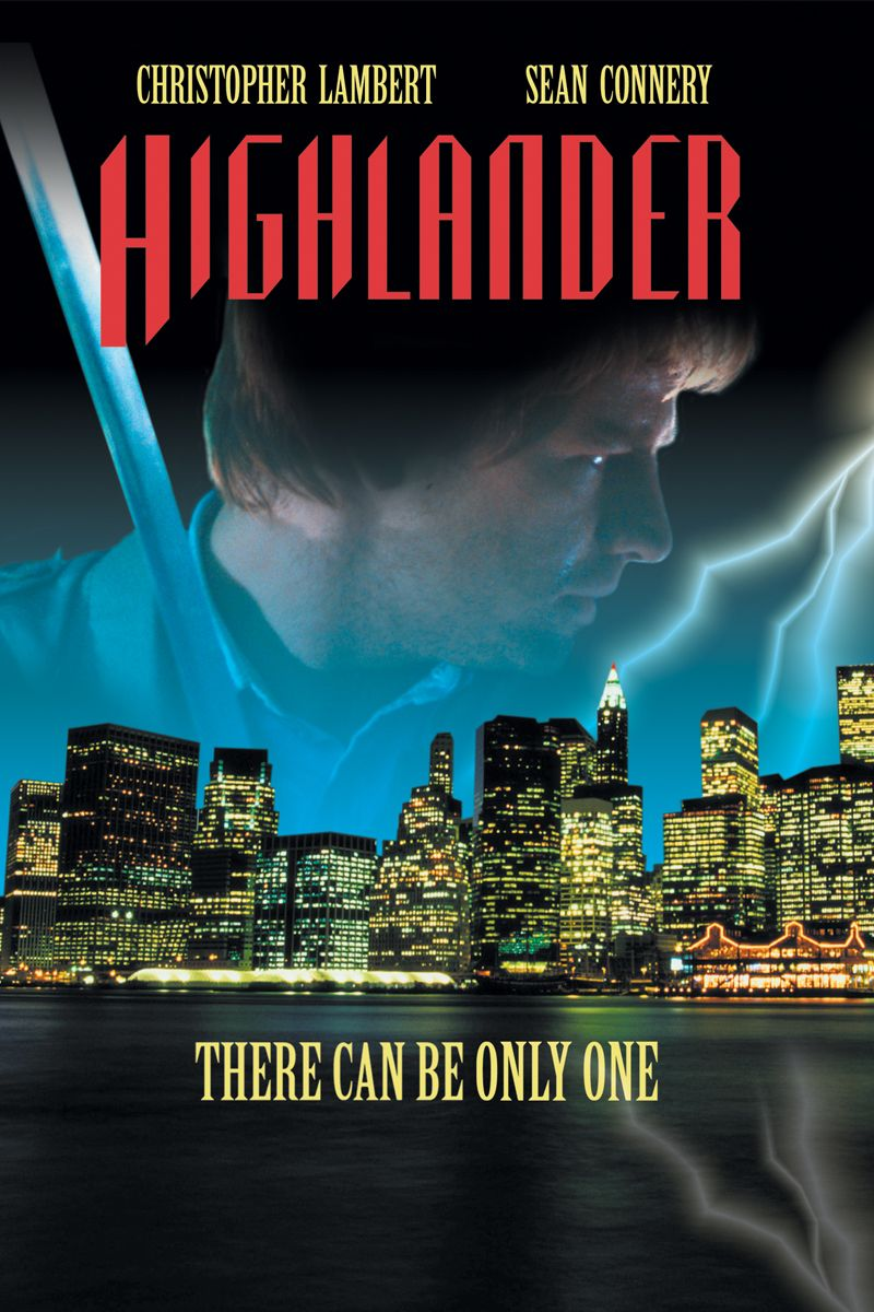 Highlander Movie Poster Christopher Lambert, Sean
