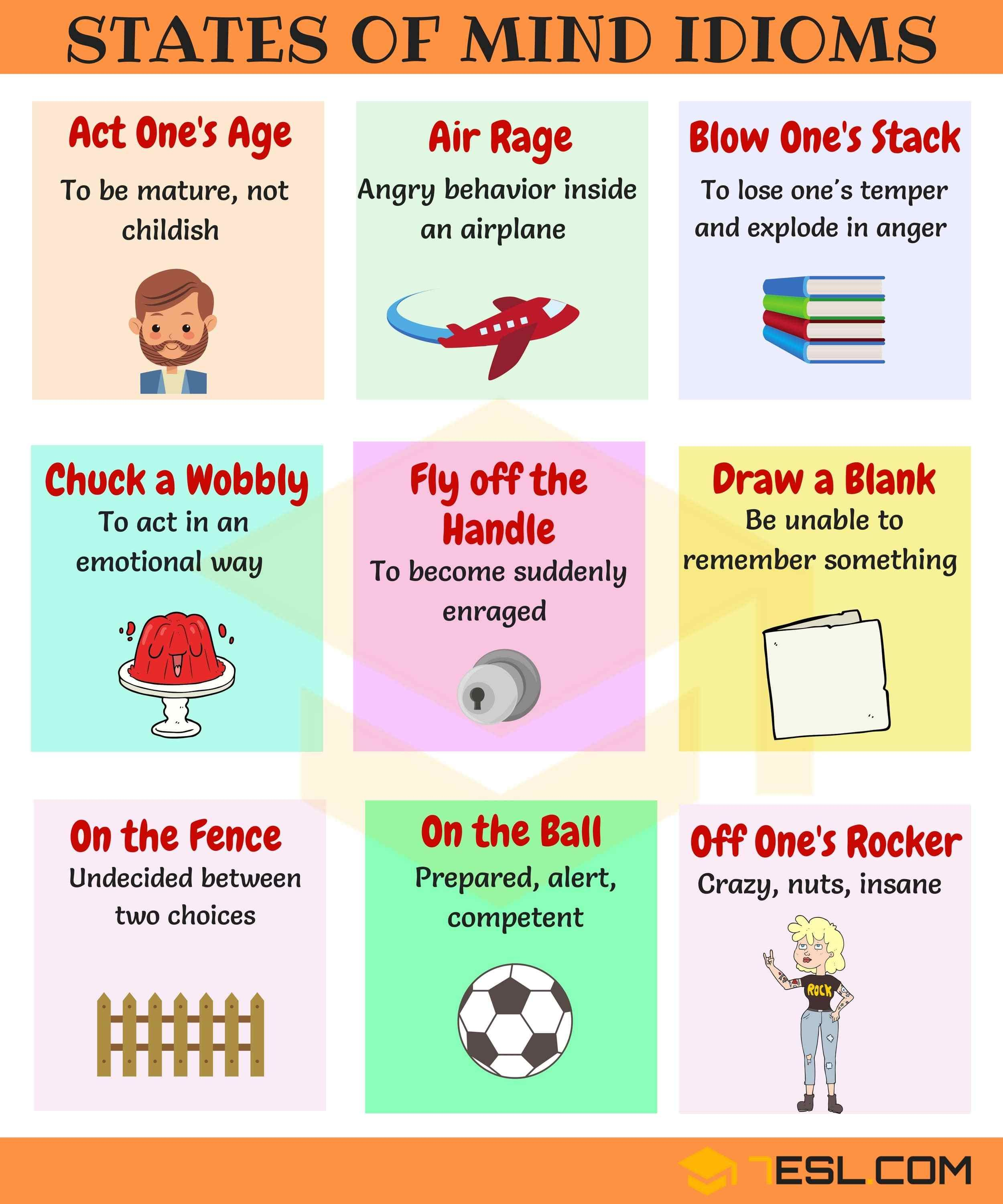 30 Popular Idioms To Express Feelings And Emotions In