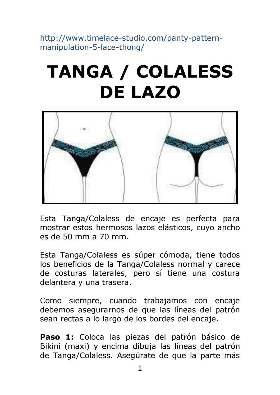 eec2af367 Tanga o Colaless de Lazo   pantys   Costura de moda, Trajes de baño ...