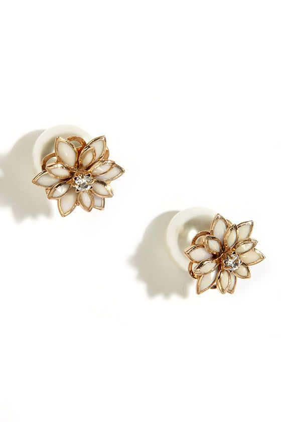 Petals Before Pearls Gold And Pearl Kaboo Earrings
