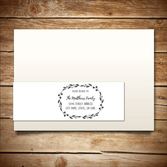 Printable WrapAround Address Label Template For By Birdiydesign