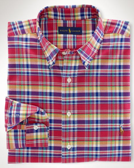 24e48d65 Classic-Fit Plaid Oxford Shirt - Big & Tall Short Sleeve - RalphLauren.com