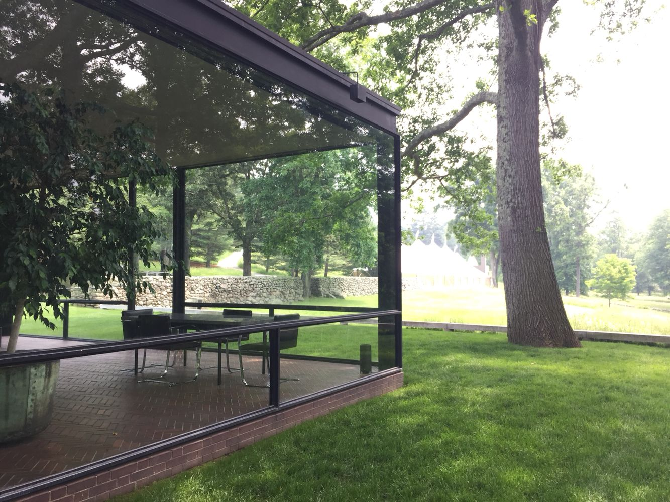 Recently visited The Glass House designed by Phillip Johnson and ...
