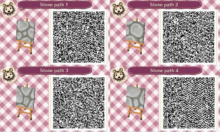 I compiled all the QR codes for the Cobblestone Path I've been working on. Th...,  #acnlqrcodesfloor #Cobblestone #codes #compiled #ive #path #working