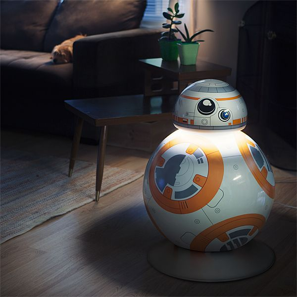 Bb 8 life size aluminum led floor lamp thinkgeek star wars bb 8 life size aluminum led floor lamp mozeypictures Gallery