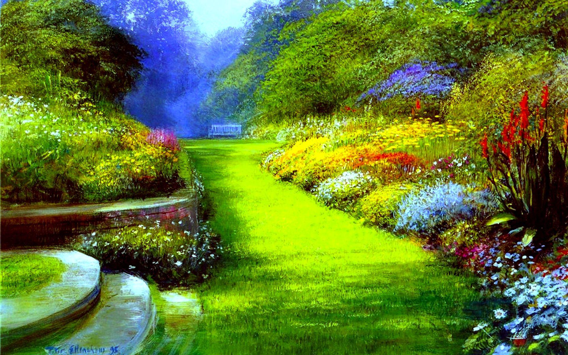 Spring Park Wide Desktop Background wallpaper free   Nature ... for Flower Park Background  279cpg