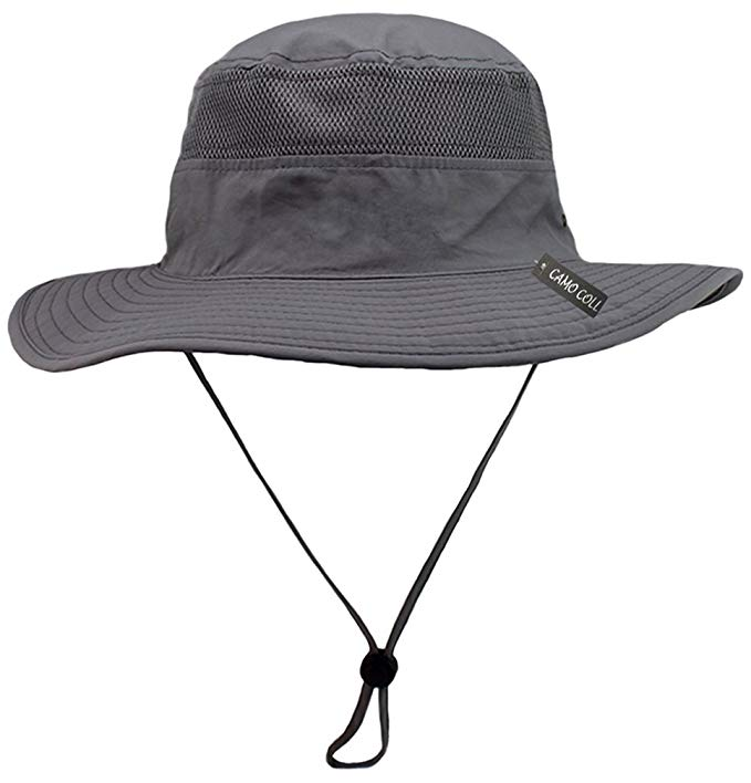 Camo Coll Outdoor Upf 50 Boonie Hat Summer Sun Caps One Size Gray At Amazon Men S Clothing Store Mens Sun Hats Hats For Men Sun Hats