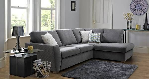 Sinatra Left Hand Facing Arm Open End Deluxe Corner Sofa Bed Sherbet Dfs Dfs Grey Corner Sofa Grey Corner Sofa Corner Sofa Living Room