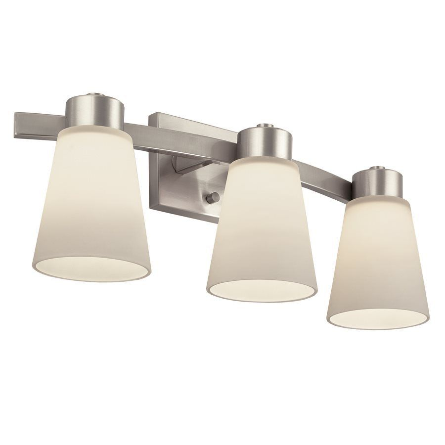 Vibrant brushed nickel bathroom lighting house interior design portfolio brushed nickel bathroom vanity light this portfolio product is for use with three frosted incandescent bulbs arubaitofo Choice Image