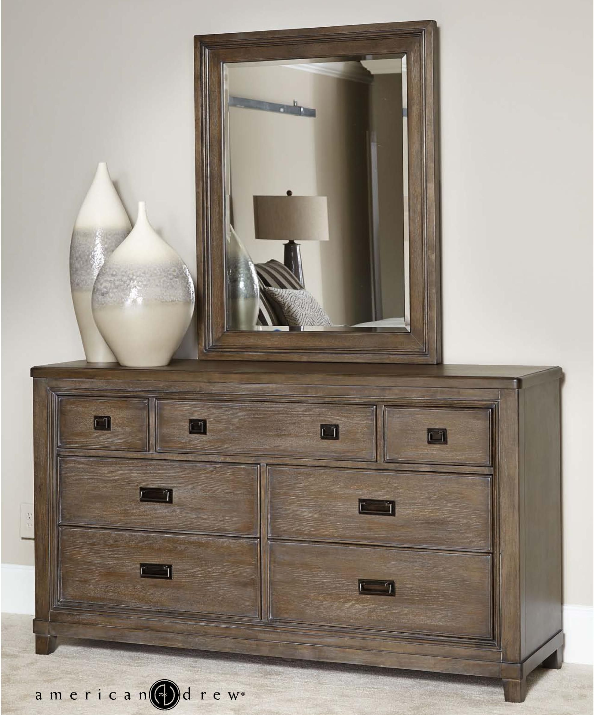 Park Studio Dresser and Mirror Set by American Drew