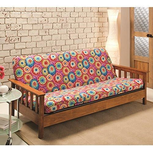 Tie Dye Themed Futon Cover Artistic String Adorable Colorful Texture Design Bedding Vibrant Colors