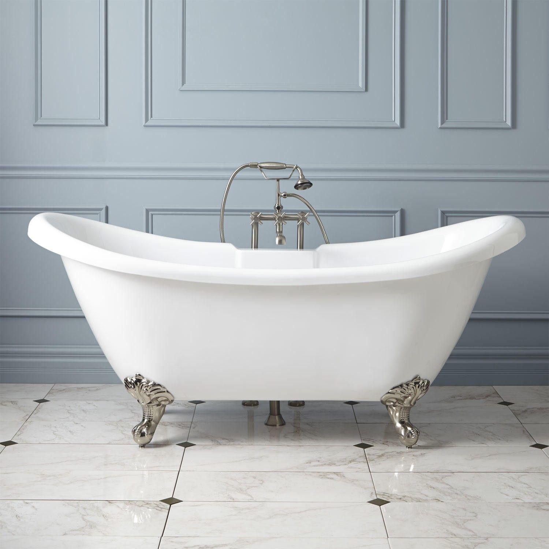 Rosalind acrylic clawfoot tub imperial feet tubs bathtubs and bath