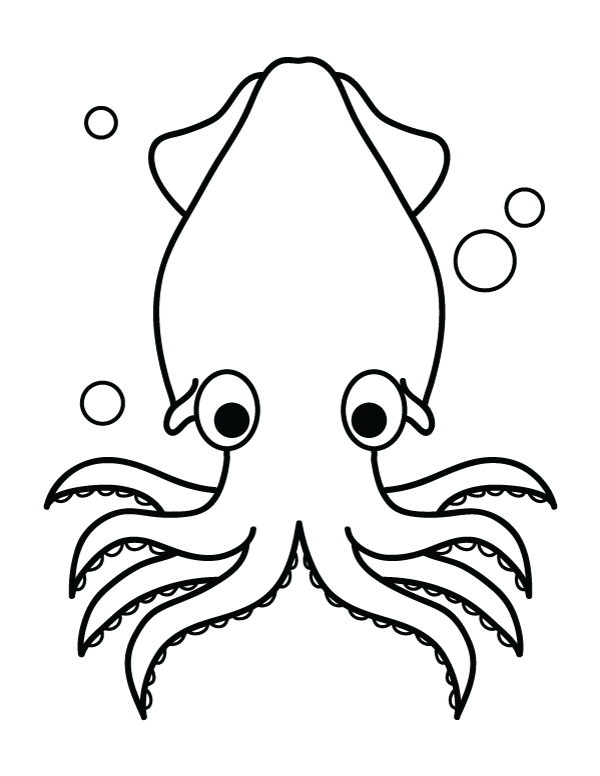 Free Printable Squid Coloring Page Download It At Https Museprintables Com Download Coloring Page S Coloring Pages Love Coloring Pages Animal Coloring Pages