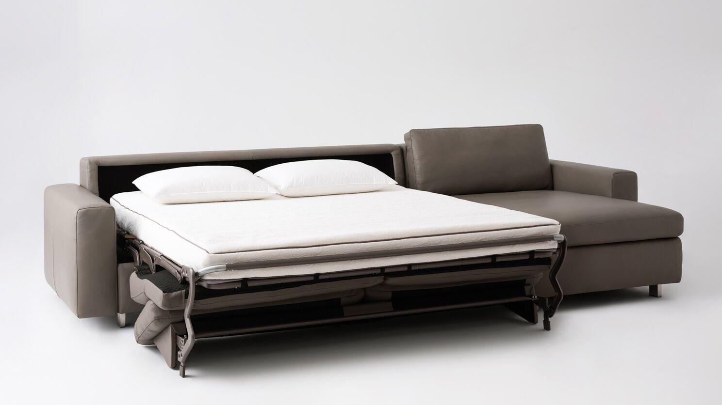 Reva 2 Piece Sectional Sleeper Sofa With Storage Chaise Eq3 Sectional Sleeper Sofa Storage Chaise Sleeper Sofa