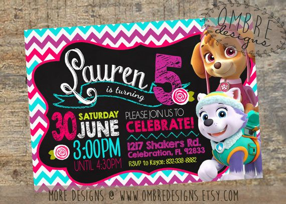 Perfect For A Little Girls Summer Paw Patrol Party Skye
