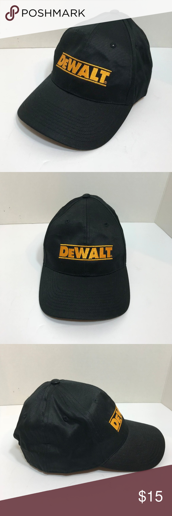 c24848829 Dewalt Snapback Cap Appears to be unworn Embroidered Dewalt Logo One ...
