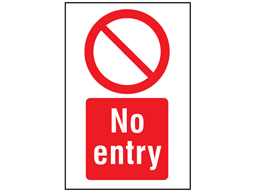 No Entry Symbol And Text Safety Sign Ps1196 Label Source Text Signs Entry Signs Symbols