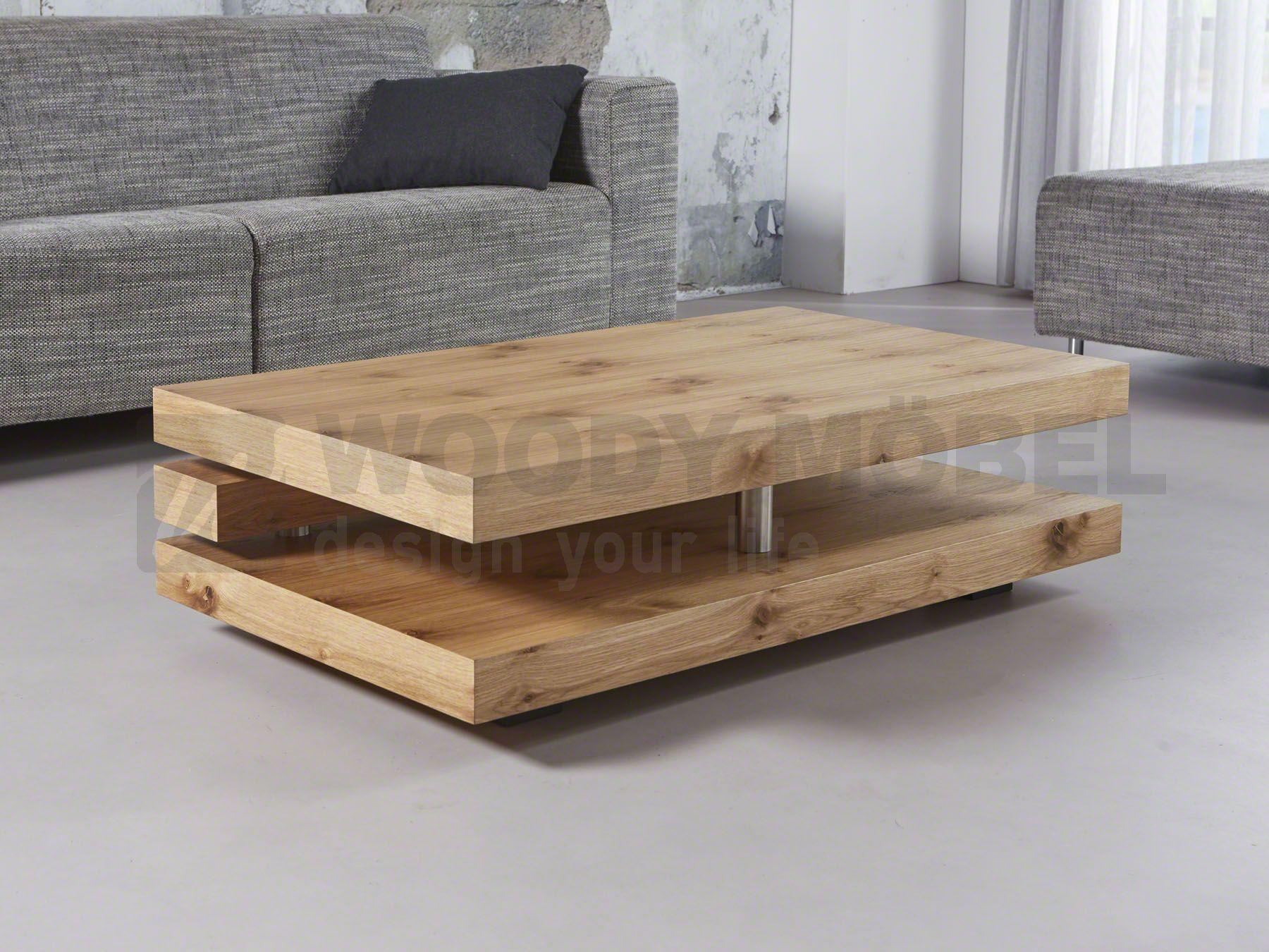 Couchtisch In Eiche Natur Mit Ablagefach Woody 83 00397 Holz Modern Jetzt Bestellen Unter Moebelladendirektde Wohnzimmer Tische Couchtische Uid