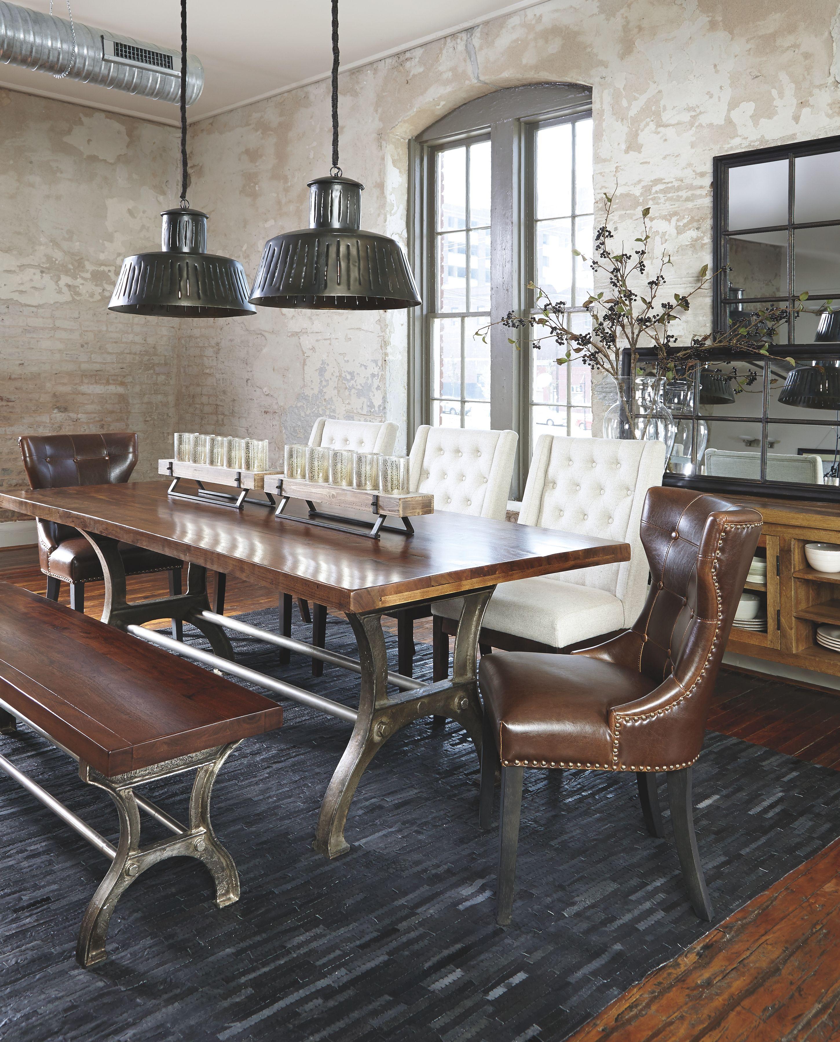 Ranimar Dining Room Table Rustic Brown
