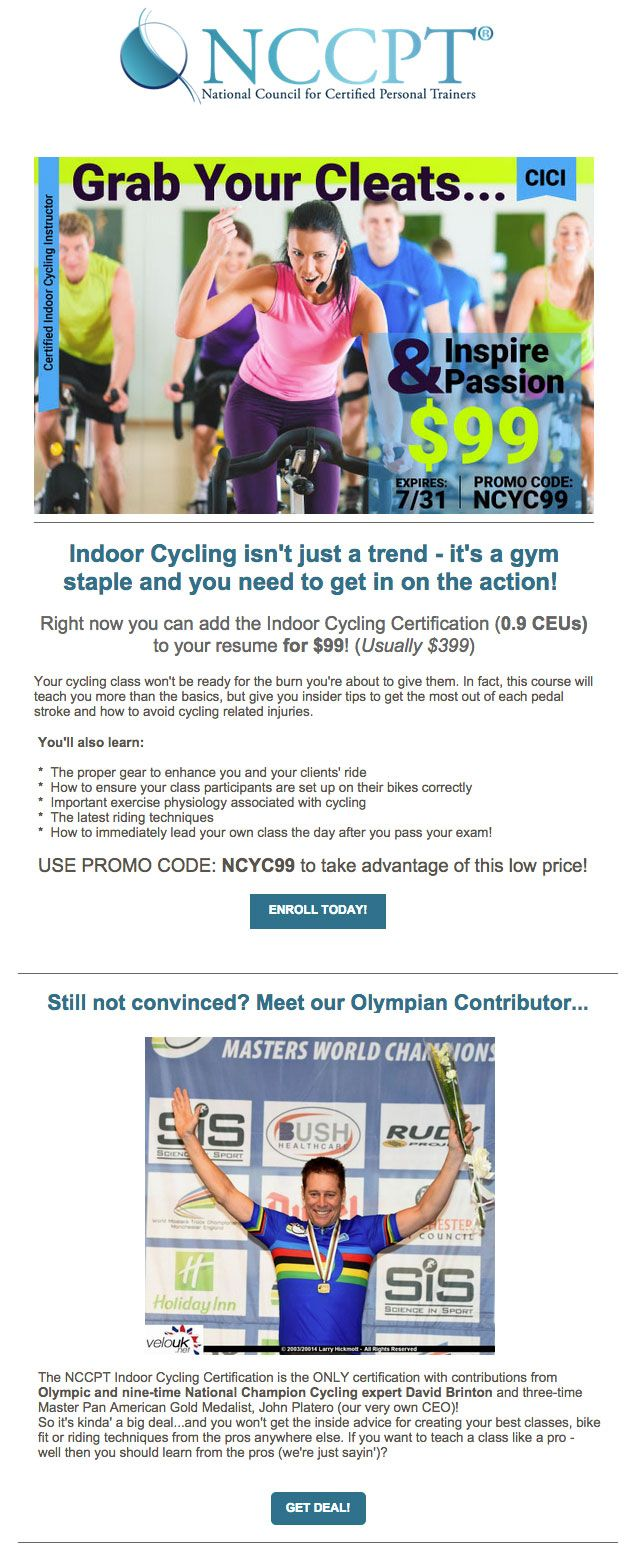 Indoor Cycling Certification Now 99 Seriously You Cant Pass This