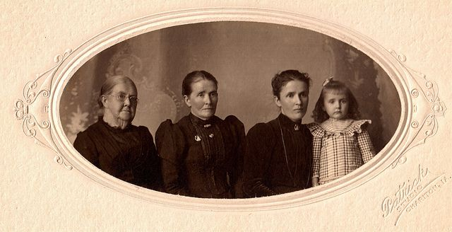 Four Generations, Albumen print, circa 1902 by lisby1, via Flickr - this image is NOT free to use!