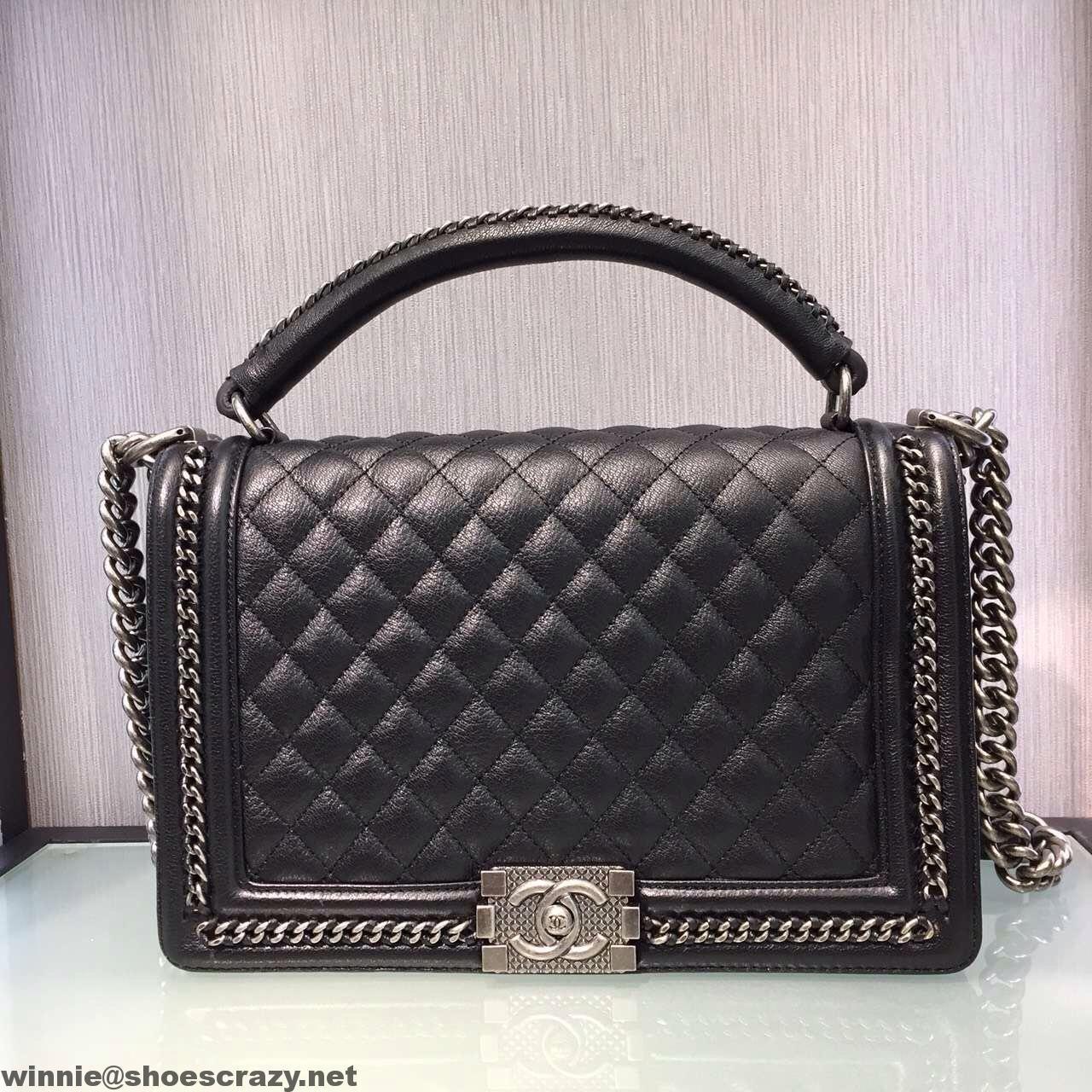 42fe622721579b Chanel New Medium Boy Chanel Chain Handle Flap Bag | Chanel | Chanel ...