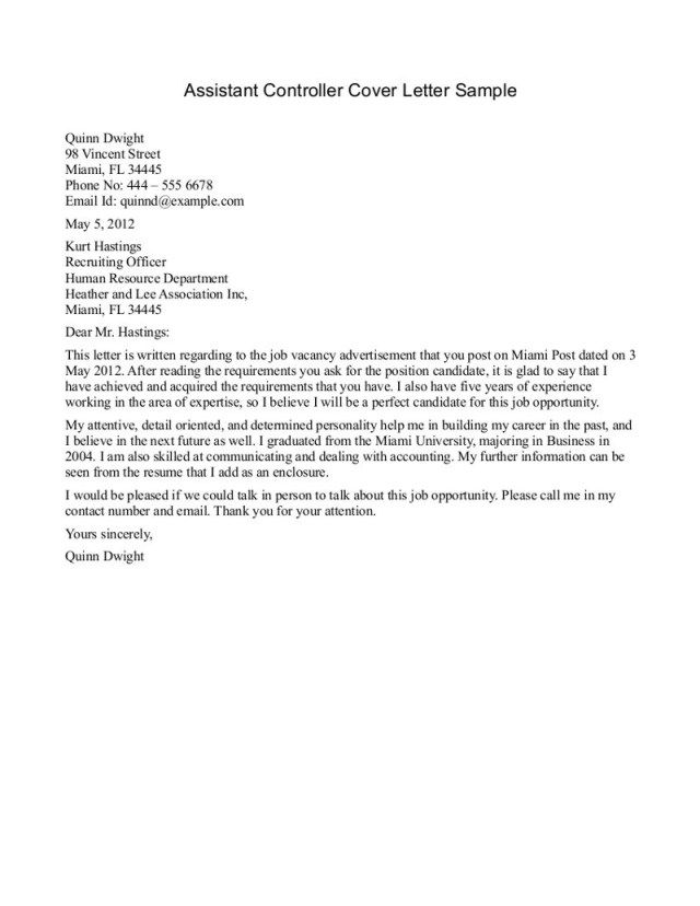 27+ Accounting Internship Cover Letter | Resume Cover Letter Example ...