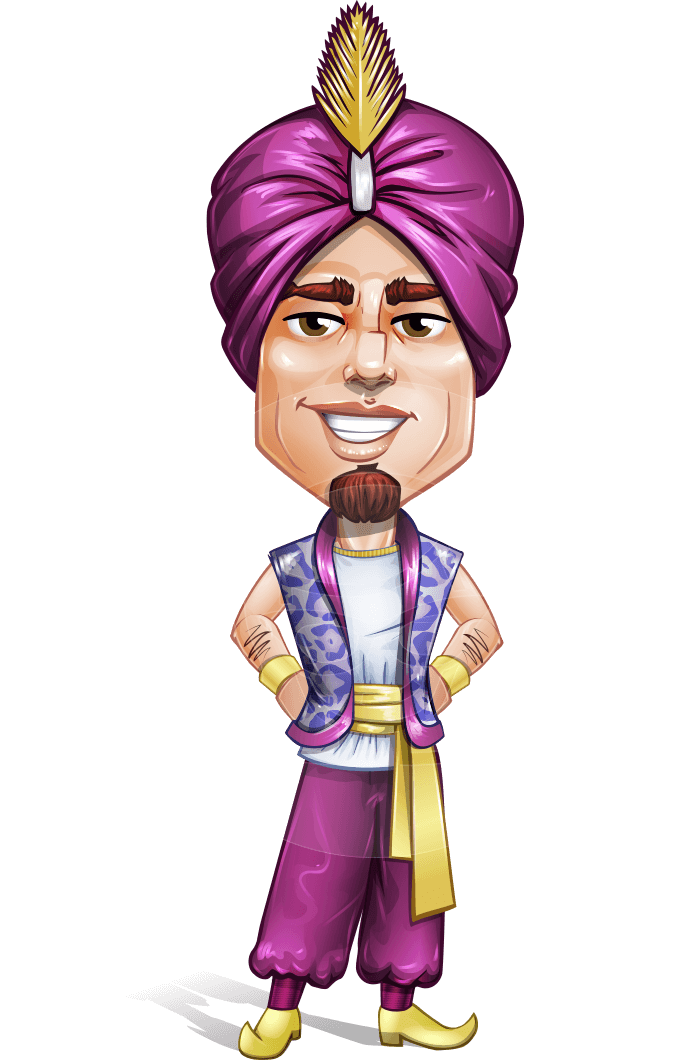zufar the courageous a male cartoon character of arab heritage