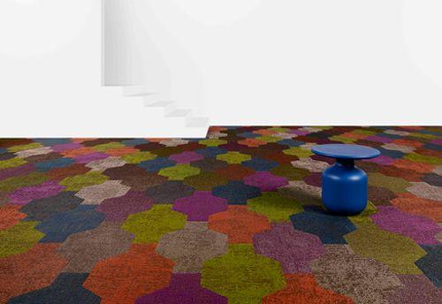 Bright Colored Carpet from Bolon