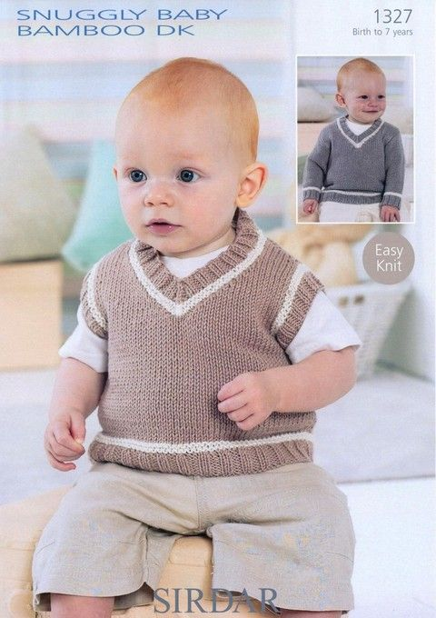 Sirdar - 1327 - V Neck Sweater and Tank (birth - age 7) | mis ...