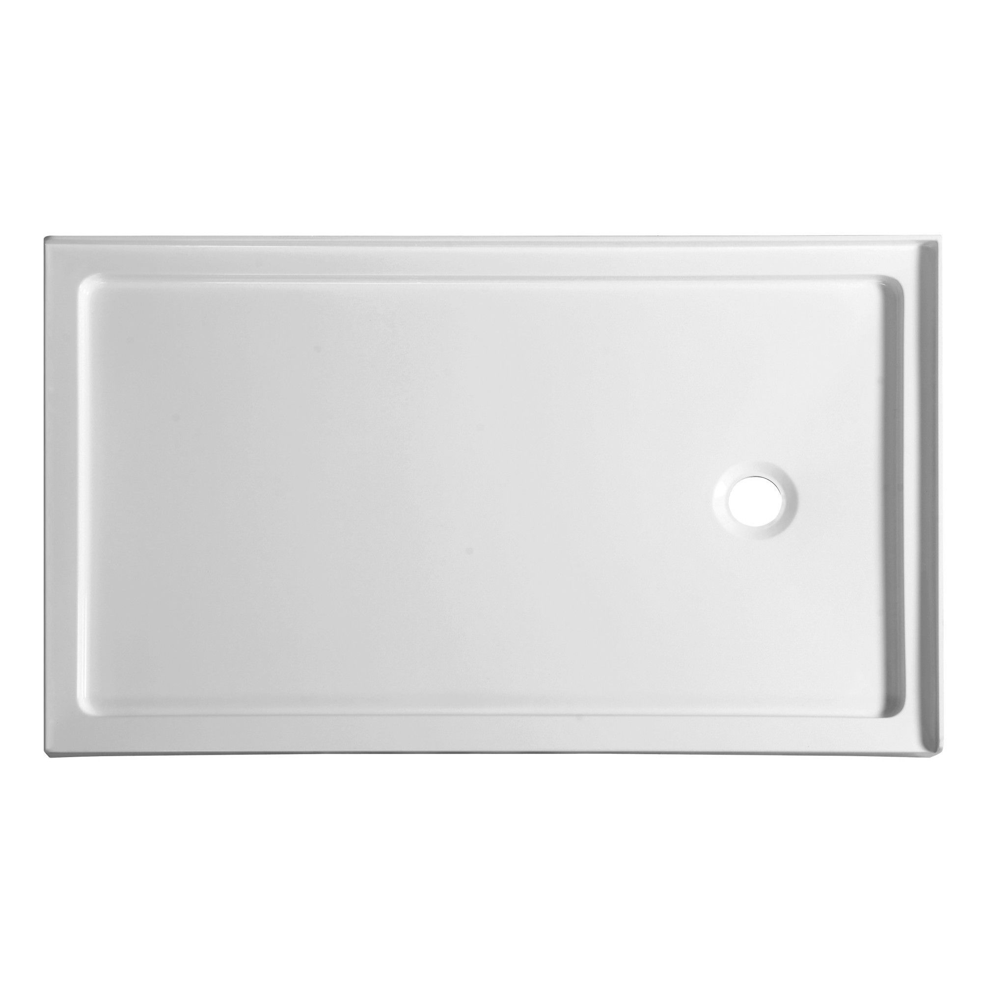 Anzzi Nautilus Series 60 In. X 36 In. Double Threshold Shower Base In White