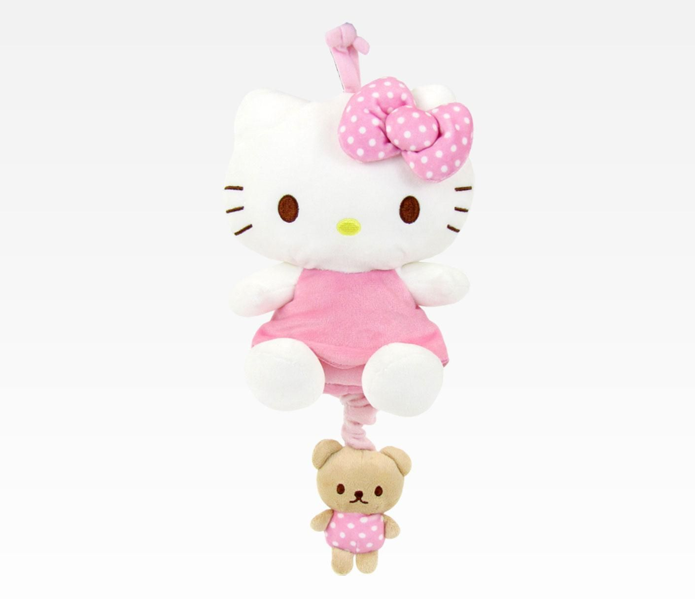 "Hello Kitty 8"" Pull-Down Musical Plush: Baby #HelloBaby"