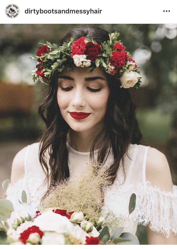 Lace wedding dress and flower head wreath and red lip #flowerheadwreaths Lace wedding dress and flower head wreath and red lip #flowerheadwreaths Lace wedding dress and flower head wreath and red lip #flowerheadwreaths Lace wedding dress and flower head wreath and red lip #flowerheadwreaths