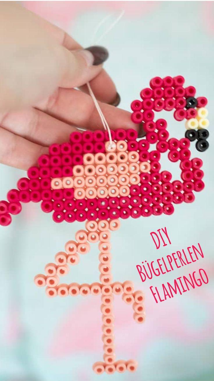 Photo of DIY-instruksjoner: flamingo påsatte perler som retro anheng