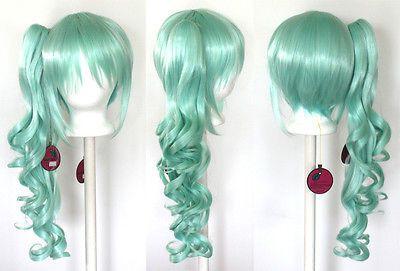 12/'/' Bob Cut Mint Green Synthetic Cosplay Wig NEW