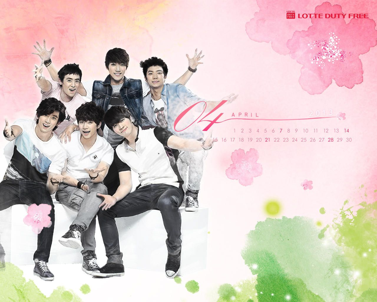 2PM April calendar wallpaper  All about 2PM  Pinterest