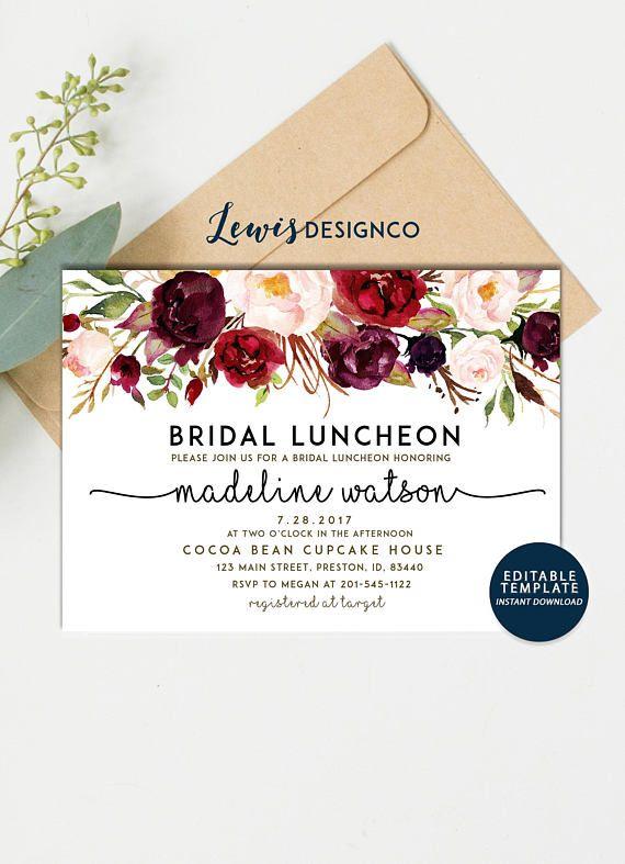 2e298e895c87 Fall Bridal Luncheon Invitation