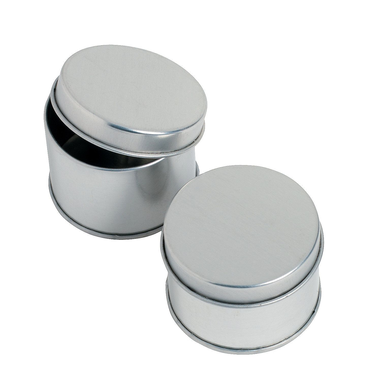 Round Silvertone Tins Favor Containers | Favors, Wedding and Bridal ...