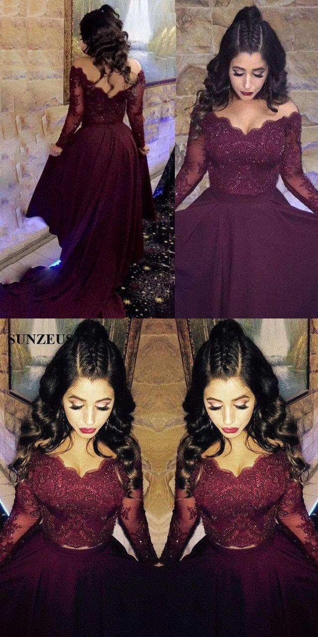 Prom dresses prom dresseswine red party dresses pieces prom