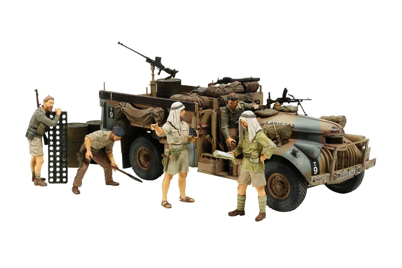 British LRDG Command Car North Africa 135 Scale Model